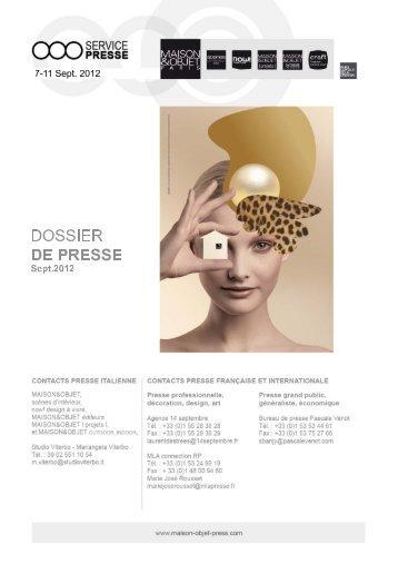 1. Parcours d'Inspirations 2012-2013 - maison-objet-press.com