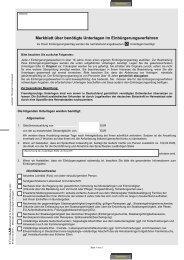 Merkblatt über benötigte Unterlagen im Einbürgerungsverfahren
