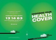 nib Health Insurance - retail sales brochure - Private Health Cover
