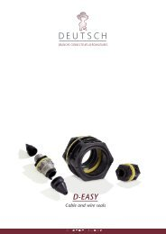 D-EASY Cable & Wire Seals - Deutsch