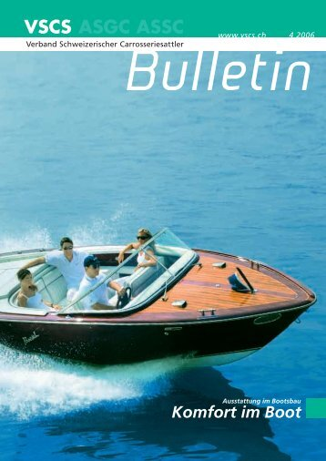 Komfort im Boot - Verband Schweizerischer Carrosseriesattler