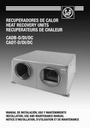 recuperadores de calor heat recovery units recuperateurs de ...