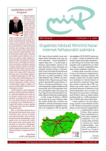 Gigabites hálózat félmillió hazai internet felhasználó számára - Niif