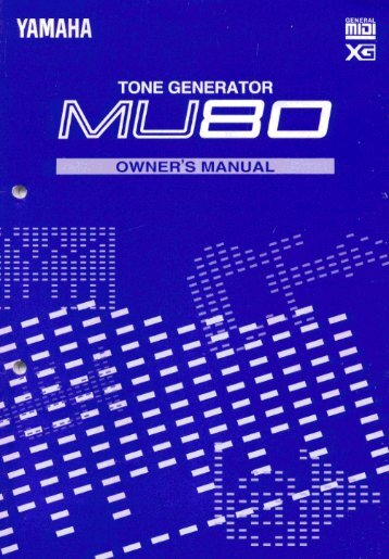 Welcome to the MU80 - Yamaha