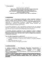 A típusú pályázati kiírás 2013. - Miskolc.hu