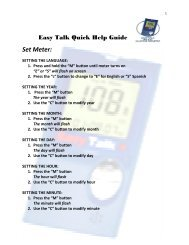 Easy Talk Quick Help Guide