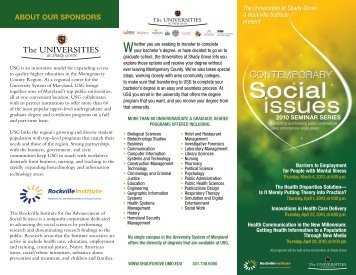 ComtemporarySocialIs.. - The Universities at Shady Grove