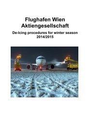 De-/Anti-Icing of Aircraft - Flughafen Wien