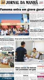 Famema entra em greve geral - Jornal da Manhã