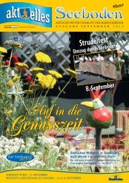 information - Marktgemeinde Seeboden