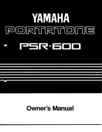 PSR-600 - Yamaha
