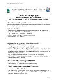 Lokale Aktionsgruppe - bei Leader im Aller-Leine-Tal