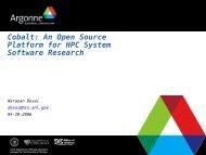 Cobalt: An Open Source Platform for HPC System Software Research