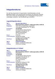 Integrationskurse - CJD Bodensee-Oberschwaben