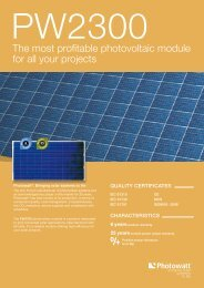 The most profitable photovoltaic module for all your ... - Activity Solar