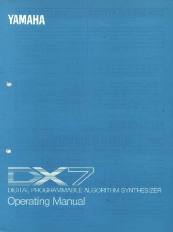 Yamaha DX7 manual