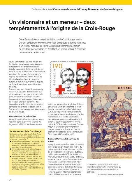 La Loupe 03/2010 - Emission juillet 2010Le - La Poste Suisse