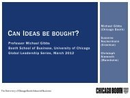 View presentation > (PDF) - The University of Chicago Booth School ...