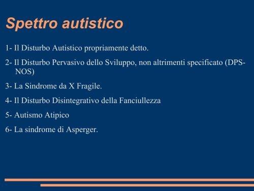 Autismo e sindromi correlate