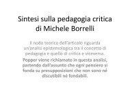 Sintesi sulla pedagogia critica di Michele Borrelli - Studium