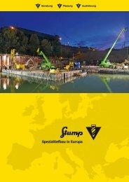 Spezialtiefbau in Europa - Stump Spezialtiefbau GmbH