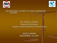 Increasing access to safe drinking water