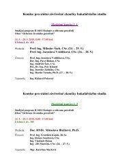 Komise pro státní závěrečné zkoušky bakalářského studia Komise ...