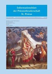 Helfen Sie mit! - Priesterbruderschaft St. Petrus