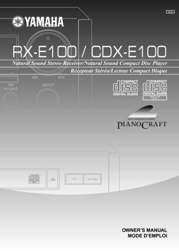 RX-E100 / CDX-E100 - Yamaha