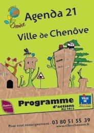 Programme d'action - Ville de Chenôve