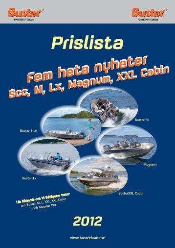 Ny buster prislista 2012 - Flipper Marin Stockholm
