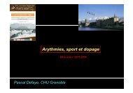Arythmies, sport et dopage - Club des Cardiologues du Sport