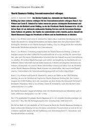 Maerki Baumann Holding: Generationenwechsel vol Maerki ...