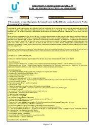 DIRECTRICES Y ORIENTACIONES GENERALES PARA LAS ...