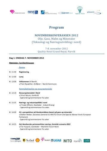 Klikk her for program og mer informasjon - NPF