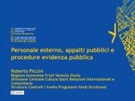 Personale esterno, appalti pubblici e procedure evidenza ... - ita-slo.eu