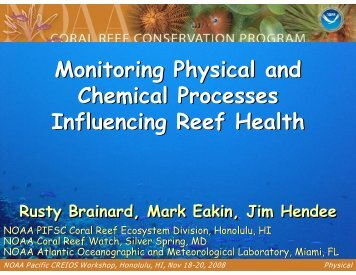 Physical - NOAA's Coral Reef Conservation Program