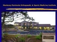 Monterey Peninsula Orthopaedic & Sports Medicine Institute ...