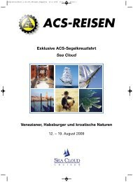 Exklusive ACS-Segelkreuzfahrt Sea Cloud ... - ACS-Reisen