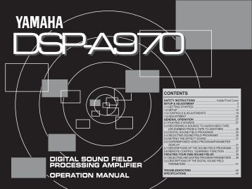Dsp-a970 - Yamaha