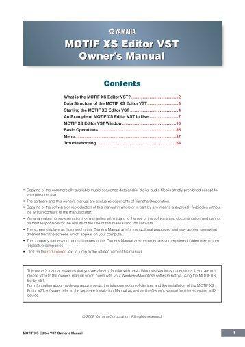 Yamaha motif owners manual