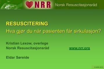 0d6c9362 God behandling etter ROSC - nakos