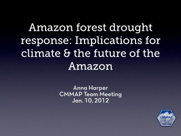 Amazon Response to Drought - cmmap
