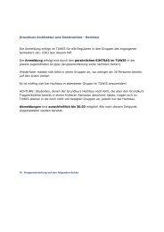 Grundkurs Architektur und Konstruktion  - Hochbau Die  Anmeldung ...