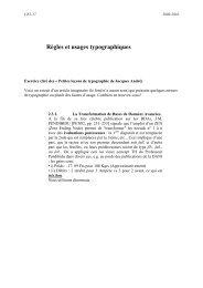 Règles et usages typographiques