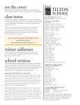 THE ALUMNI MAGAZINE OF TILTON SCHOOL FALL 2008 - Page 2