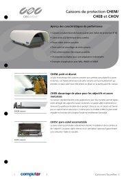 Caissons de protection CHEM/ CHEB et CHOV - CBC CCTV