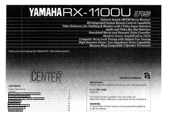 RX-1100/U - Yamaha