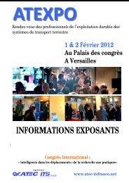 INFORMATIONS EXPOSANTS - Atec/ITS France