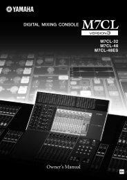 M7CL VERSION3 Owner's Manual - Yamaha Downloads